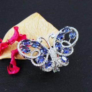 Celosa珠寶 蝶之戀藍寶戒指