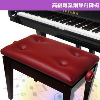 【美佳音樂】高級專業鋼琴升降椅-棗紅(可調整高度/台灣製造)