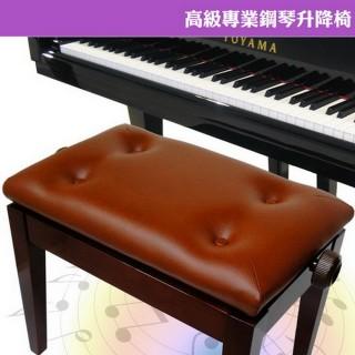 【美佳音樂】高級專業鋼琴升降椅-棕色(可調整高度/台灣製造)