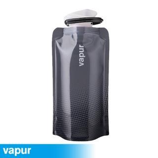 【美國Vapur】Shades 運動摺疊水袋 0.5L 灰10201(運動水壺 摺疊水壺)