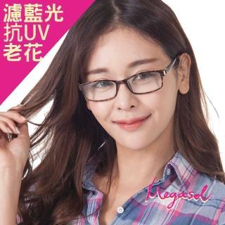 【MEGASOL】抗藍光UV400老花眼鏡(高貴花紋款-1234)