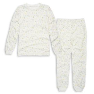 【annypepe】女童假日長袖冷氣衫家居服/米白_美國精梳棉