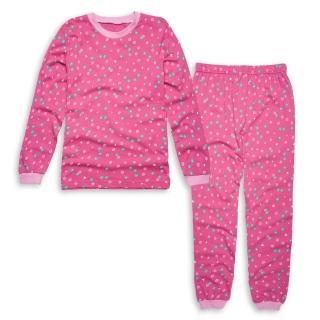 【annypepe】女童美國甜心長袖冷氣衫家居服/桃紅_美國精梳棉