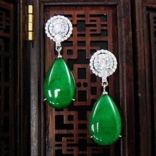 【蕾帝兒珠寶】華麗的愛翠玉耳環