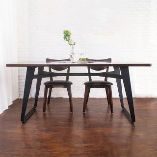 【Bernice】萊森工業風6尺實木餐桌