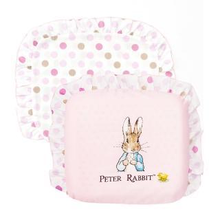 【奇哥】花園比得兔乳膠圓型枕-附枕套(粉紅)
