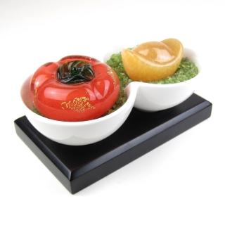 【開運工場】柿柿有財雙喜開運聚寶盆(附贈木底座)