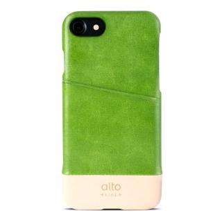 【alto】iPhone 7 真皮手機殼背蓋 Metro - 萊姆綠/本色(alto  義大利真皮皮革)