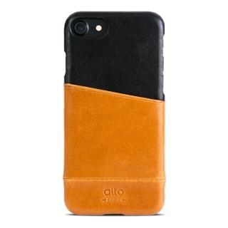 【alto】iPhone 7 真皮手機殼背蓋 Metro - 淺棕/黑色(alto  義大利真皮皮革)
