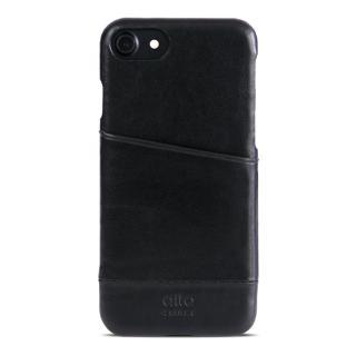 【alto】iPhone 7 真皮手機殼背蓋 Metro - 黑色(alto  義大利真皮皮革)