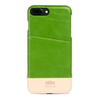 【alto】iPhone 7 Plus 真皮手機殼背蓋 Metro - 萊姆綠/本色(alto  義大利真皮皮革)