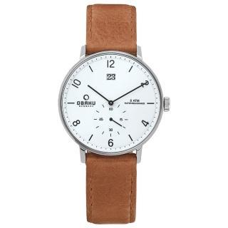 【OBAKU】蛻變規則時尚皮帶錶(V190GDCWRZ)