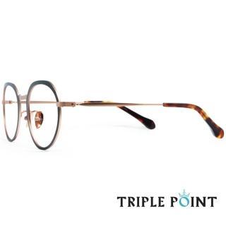 【TRIPLE POINT 韓國】人氣潮流光學眼鏡 F系列(-棕+玫瑰金 -  F BN)