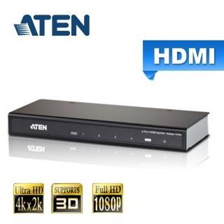 【ATEN】4埠 HDMI 影音分配器 4K2K(VS184A)