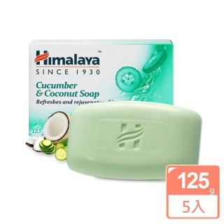【印度 Himalaya喜馬拉雅】黃瓜椰子保濕香皂 125g(5入)