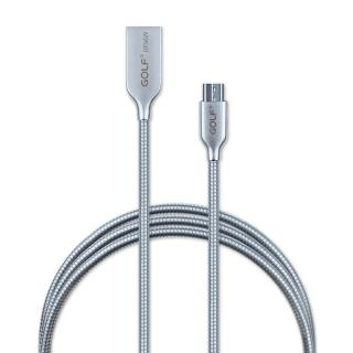 Micro USB 轉 USB 2.0 流光系列鋅合金傳輸充電線(1M)