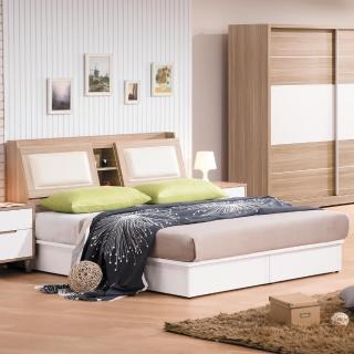 【時尚屋】肯詩特烤白雙色5尺床箱型雙人床(G17-A017-1+A017-2)