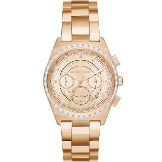 【Michael Kors】星光伸展台計時腕錶(MK6421 金色 38mm)  Michael Kors
