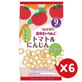 【日本KEWPIE】S-5寶寶果子圈圈-番茄胡蘿蔔(6包組)