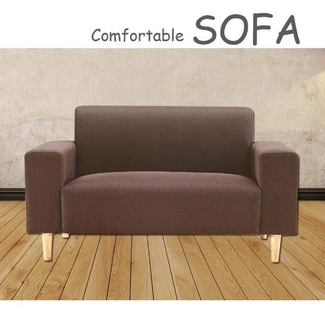 【時尚屋】傑克深咖啡色布套雙人座沙發(U6-919-302)
