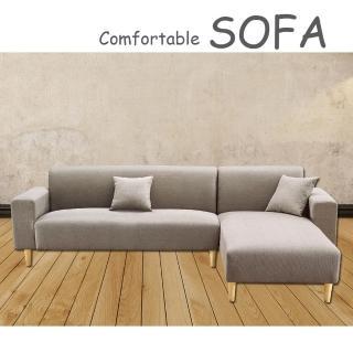 【時尚屋】傑克淺咖啡色布套雙人L型沙發(U6-919-702)