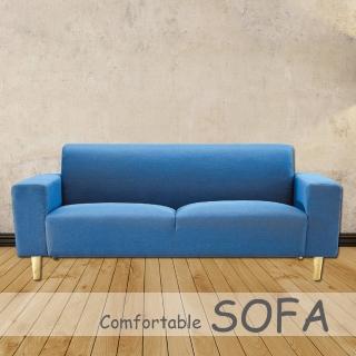 時尚屋 傑克藍色布套三人座沙發 U6-919-105