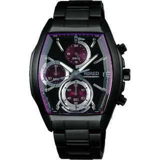 【WIRED】東京潮流炫彩計時腕錶-紫圈x黑/38mm(VR33-0AB0P  AY8012X1)