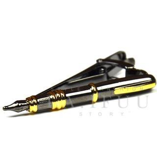 【拉福】領帶夾烏黑鋼筆領夾帶領夾(5cm)   拉福