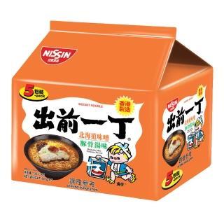 【日清】出前一丁北海道味噌豚骨湯味速食麵100gX5入(出前一丁)