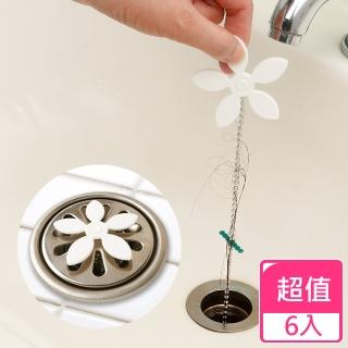 【HIKARI日光生活】便利排水口毛髮鉤(6入)
