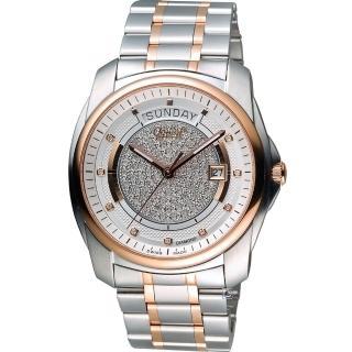 【愛其華 Ogival】豪氣鑽石自動機械腕錶(3362-6AJGSR)