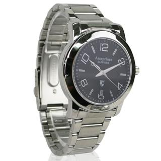 【Arseprince】藍圈指針時尚中性錶(銀黑色)