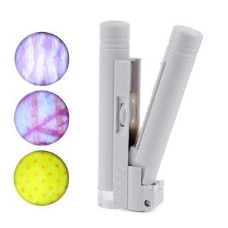 100倍 顯微鏡 放大鏡 鑑定珠寶 古玩 玉石 翡翠 印刷 網點(有LED燈)