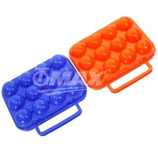【omax】防震攜帶式12格雞蛋盒-2入(隨機出貨)