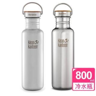 【美國Klean Kanteen】竹片鋼蓋冷水瓶(800ml)