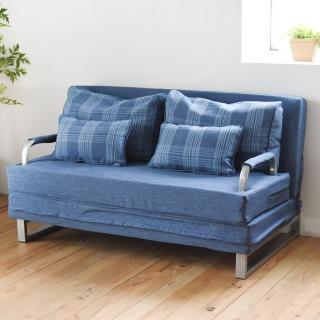 【樂活主義】時尚多功能獨立筒雙人沙發床/躺椅/床鋪-可拆洗(四色可選)