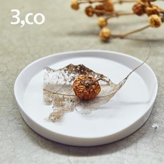 【3 co】水波系列圓形托盤- 白(1號)