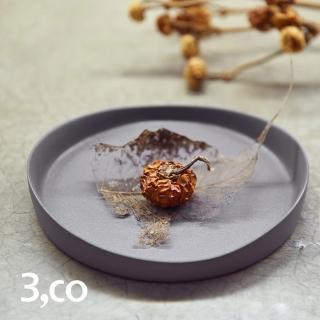 【3 co】水波系列圓形托盤- 灰(1號)