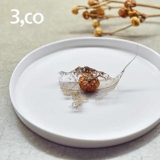 【3 co】水波系列圓形托盤- 白(2號)