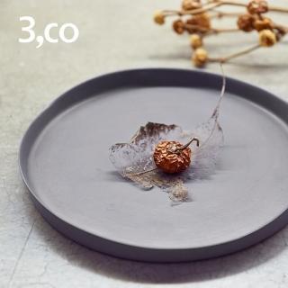 【3 co】水波系列圓形托盤- 灰(2號)