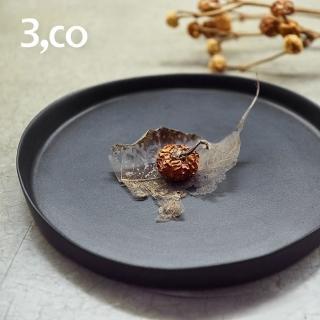【3 co】水波系列圓形托盤- 黑(2號)