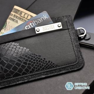【俬品創意】設計款紙革鱷魚紋iPhone5保護套(適用5/SE)