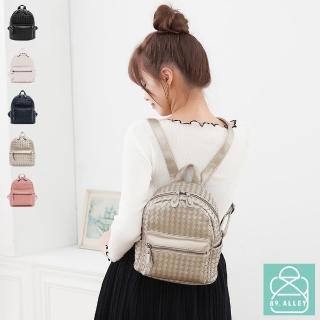 【89.Alley】後背包 編織包 可愛立體雙肩背包(5色)