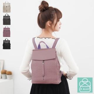 【89.Alley】後背包 編織包 多功能兩用側背包(4色)