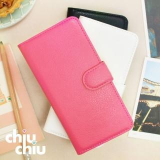 【CHIUCHIU】iPhone 7 荔枝紋側掀式可插卡立架型保護皮套(4.7吋)