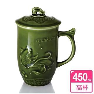 【乾唐軒活瓷】魚喜杯 / 綠釉