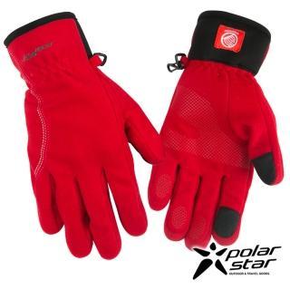【PolarStar】女防風保暖手套(紅 P16616)