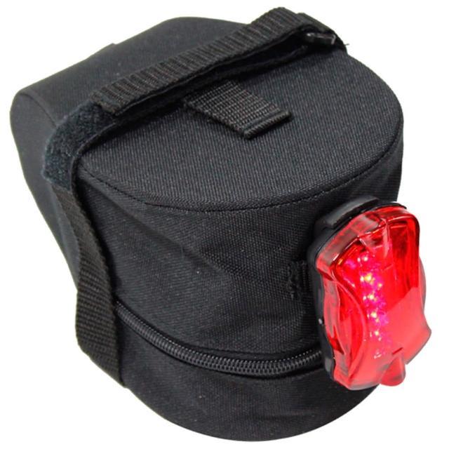 【鐵馬行】台製超值坐墊袋+後警示燈(12H)