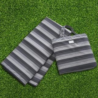 【rainstory】多功能防水折疊野餐墊-漸層藍條紋
