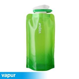 【美國Vapur】Shades 運動摺疊水袋 0.5L 綠 10197(運動水壺 摺疊水壺)